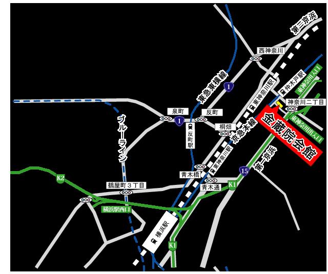 金蔵院会館アクセス地図